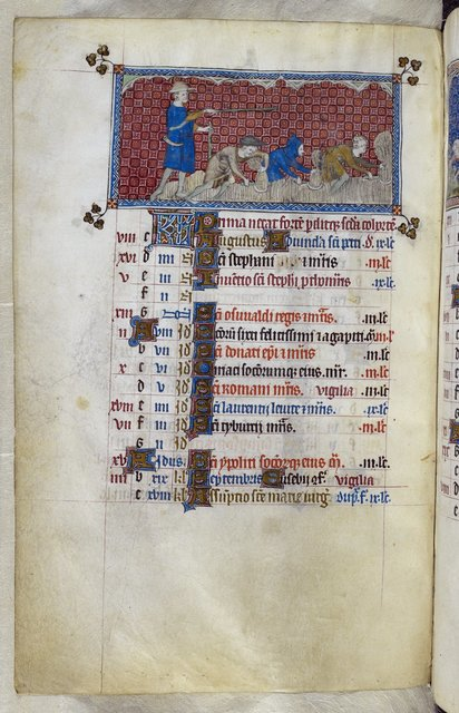August from BL Royal 2 B VII, f. 78v