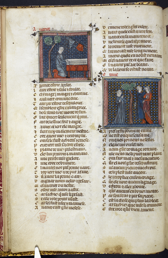 Avarice and Envy from BL Royal 19 B XIII, f. 6v