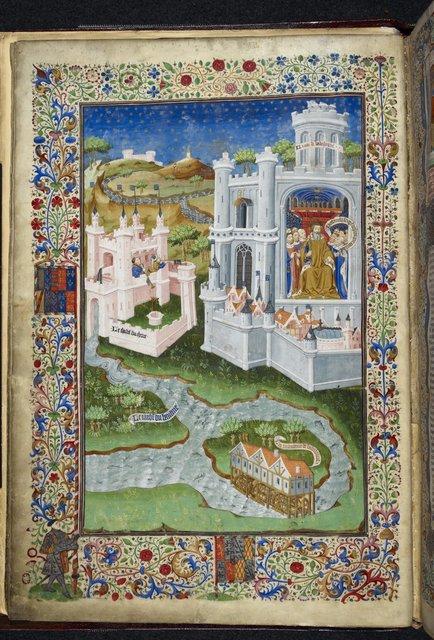 Babylon from BL Royal 15 E VI, f. 4v