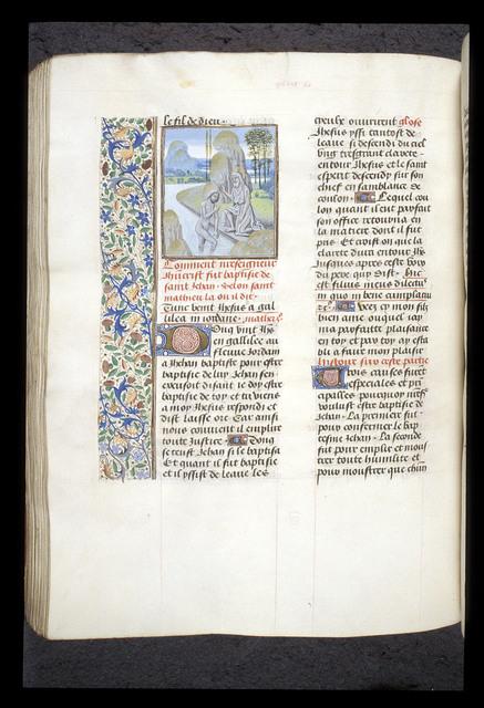 Baptism of Christ from BL Royal 15 D I, f. 254v