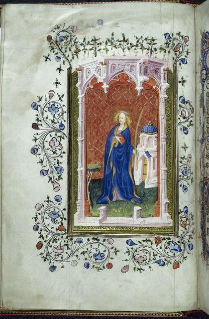 Barbara from BL Royal 2 A XVIII, f. 19v