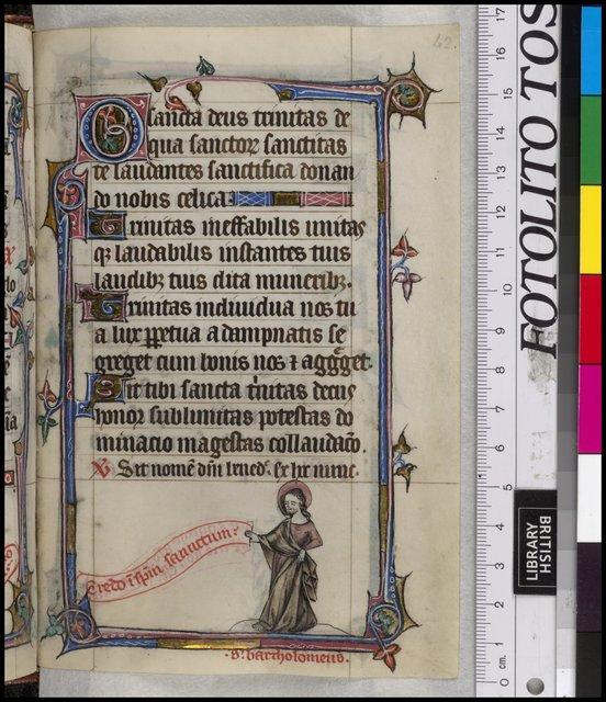 Bartholemew from BL YT 13, f. 42