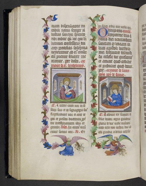 Bartholomew and Louis from BL Eg 1070, f. 99v