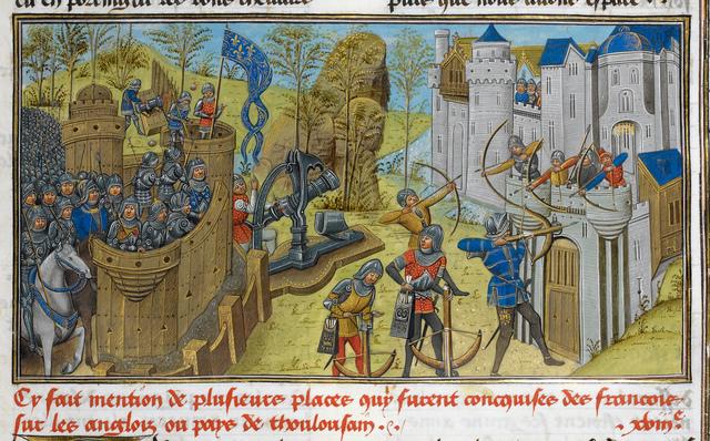 Bastion erected against Brest from BL Royal 14 E IV, f. 210