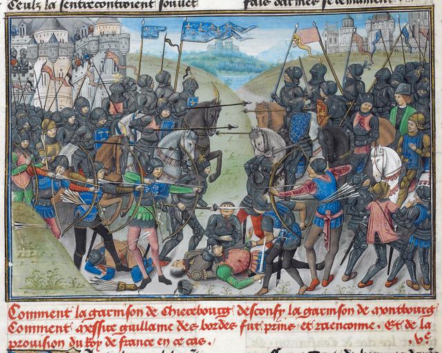 Battle from BL Royal 14 E IV, f. 14v