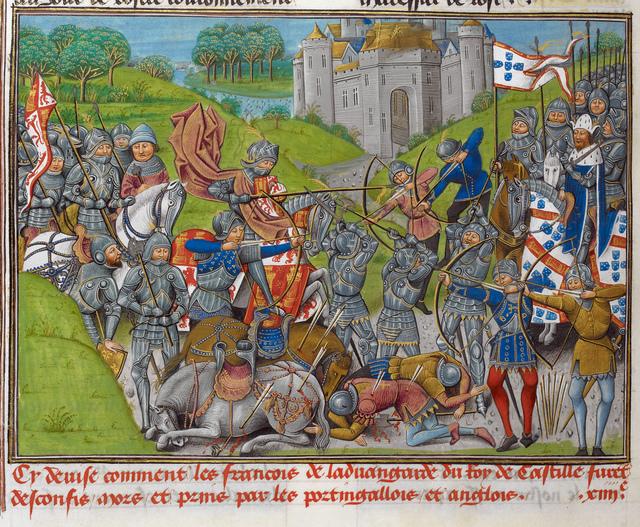 Battle from BL Royal 14 E IV, f. 201v