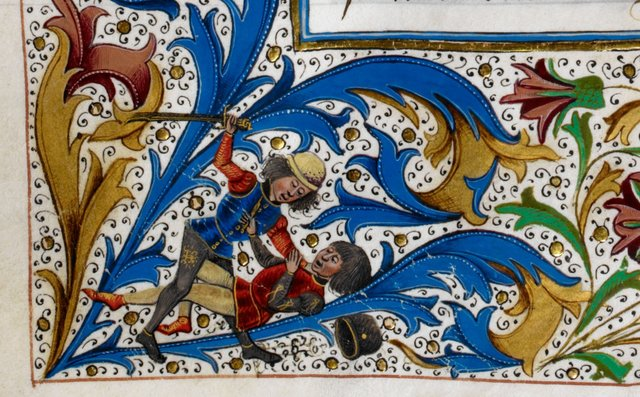 Battle from BL Royal 15 E IV, f. 257v