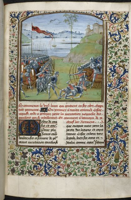 Battle from BL Royal 16 G VIII, f. 189