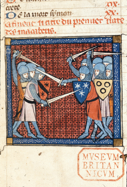 Battle from BL Royal 18 D VIII, f. 1