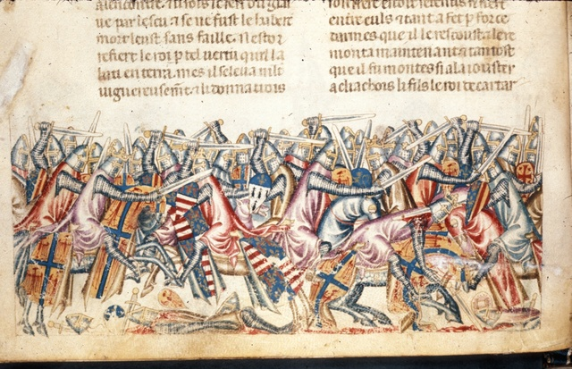 Battle from BL Royal 20 D I, f. 35v