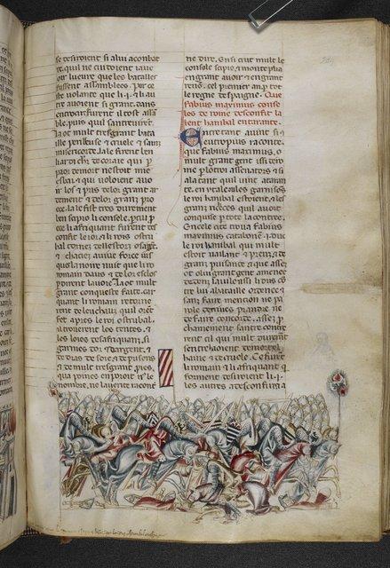 Battle of Baecula from BL Royal 20 D I, f. 284