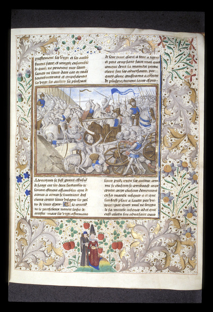 Battle of Issus from BL Royal 15 D IV, f. 50