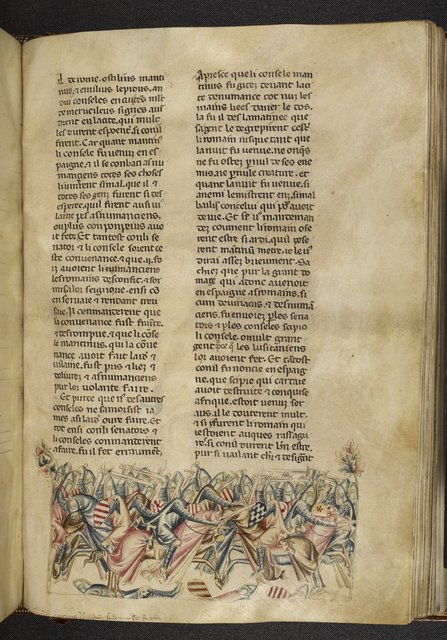 Battle of Mancinus from BL Royal 20 D I, f. 311
