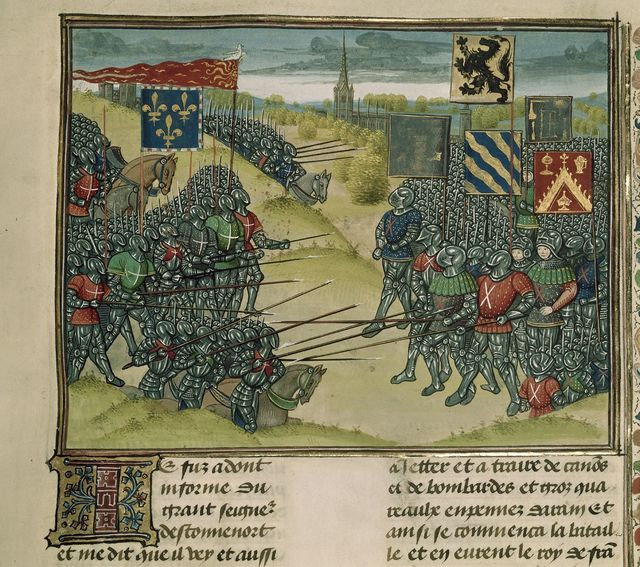 Battle of Mont d'Or from BL Royal 18 E I, f. 269