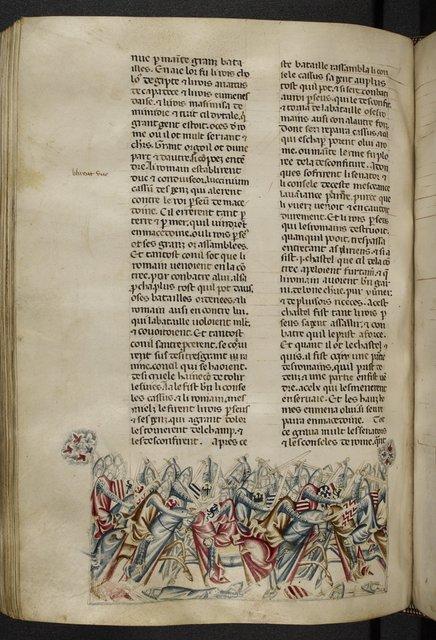Battle of Pydna from BL Royal 20 D I, f. 299v