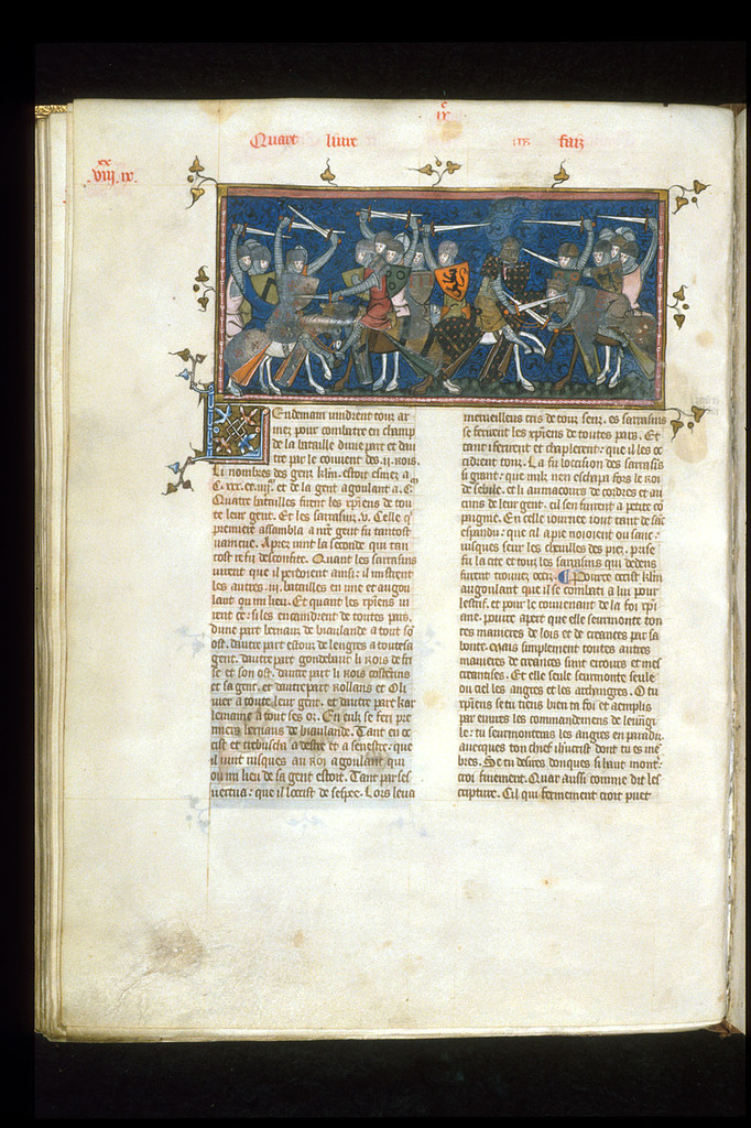 Battle scene from BL Royal 16 G VI, f. 171v
