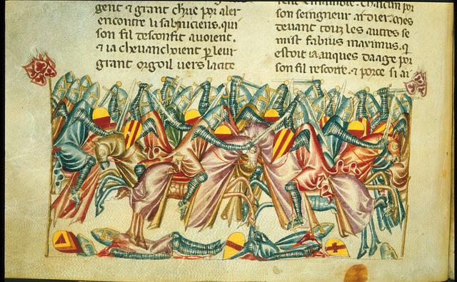 Battle with Samnites from BL Royal 20 D I, f. 244v