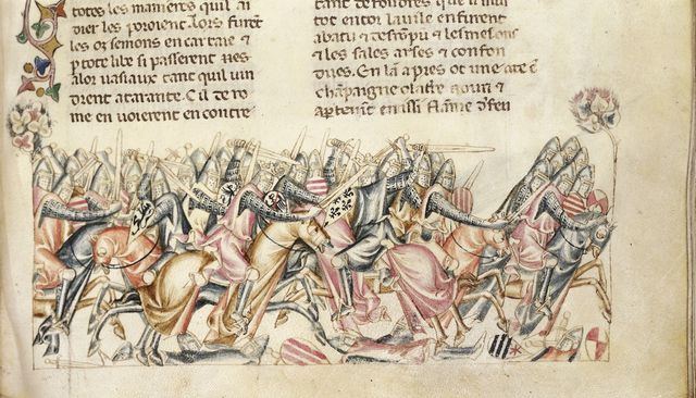 Battle with the Carthaginians from BL Royal 20 D I, f. 251