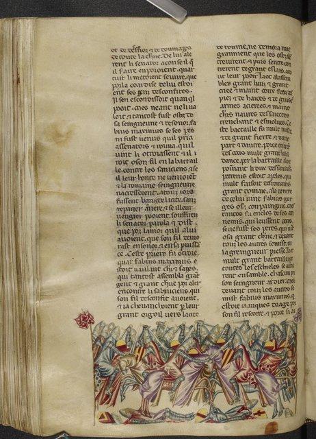 Battle with the Samnites from BL Royal 20 D I, f. 244v