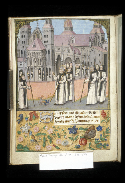Bernard taking possession of the Abbey of Clairvaux from BL YT 32, f. 9v