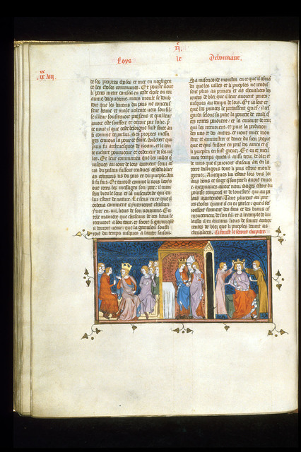 Betrothal of Louis the Pious from BL Royal 16 G VI, f. 189v