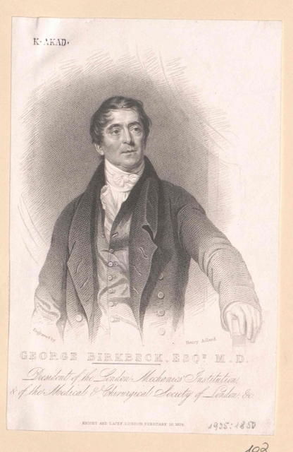 Birkbeck, George