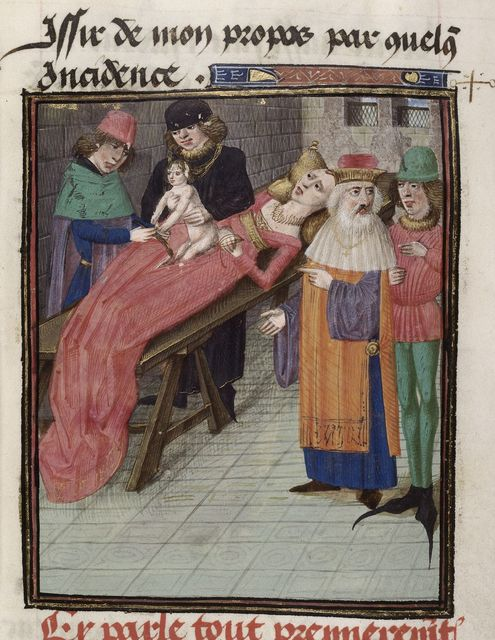 Birth of Julius Caesar from BL Royal 16 G VIII, f. 32