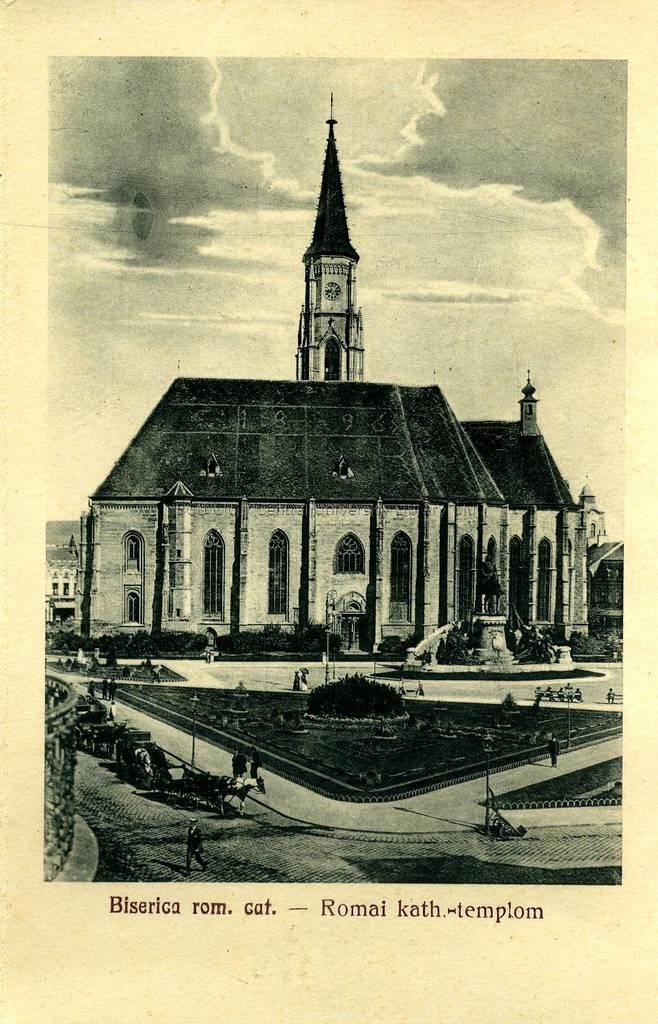 Biserica rom. cat. : [pliant] = Romai kath.-templom : [képeslap leporello]