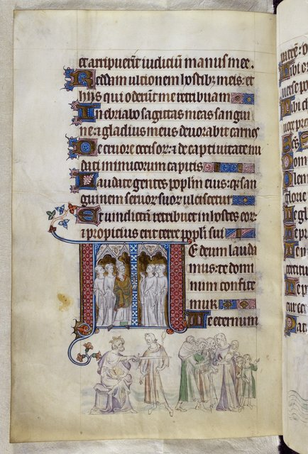Bishop and Becket from BL Royal 2 B VII, f. 292v