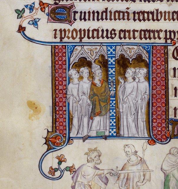 Bishop from BL Royal 2 B VII, f. 292v