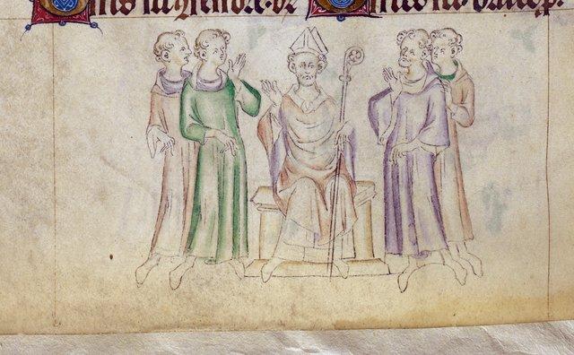 Bishop of Myra from BL Royal 2 B VII, f. 316v