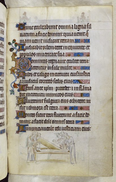 Bishop's tomb from BL Royal 2 B VII, f. 210