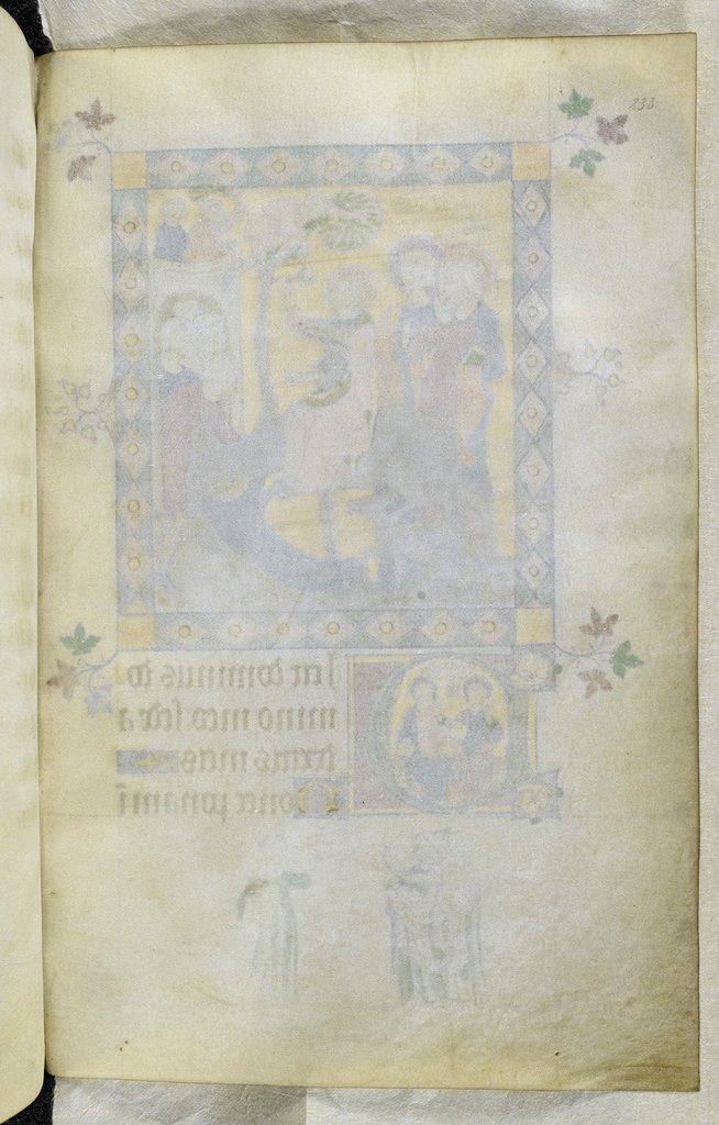 Blank folio f.233, miniature on verso. from BL Royal 2 B VII, f. 233