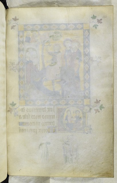 Blank folio f.233, miniature on verso. from BL Royal 2 B VII, f. 233