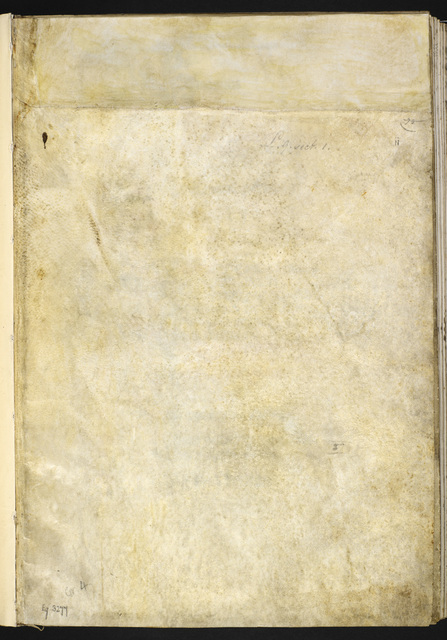 Blank page from BL Eg 3277, f. ii
