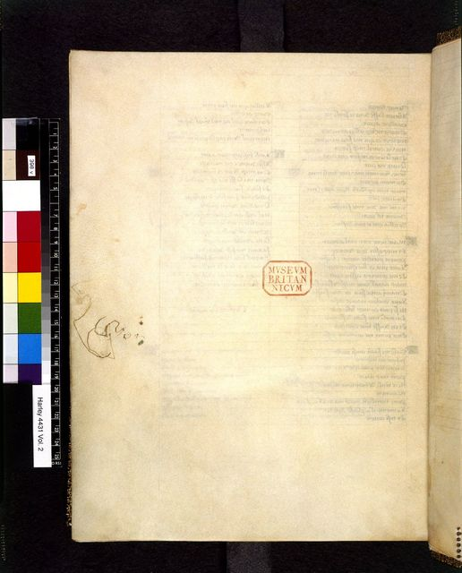 Blank page from BL Harley 4431, f. 398v