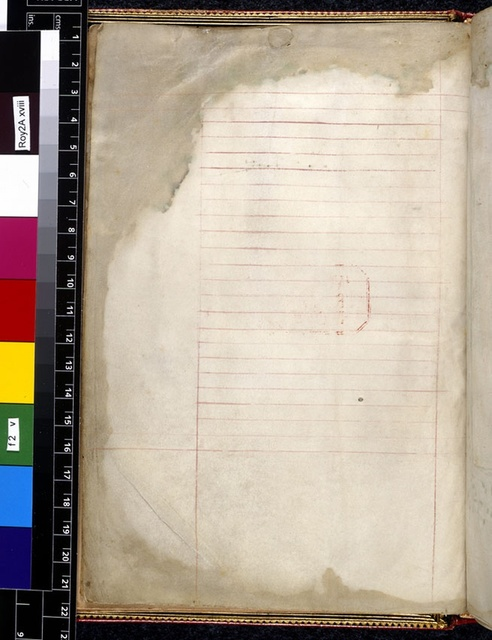 Blank page from BL Royal 2 A XVIII, f. 2v