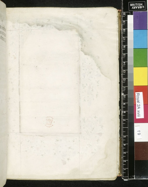 Blank page from BL Royal 2 A XVIII, f. 9