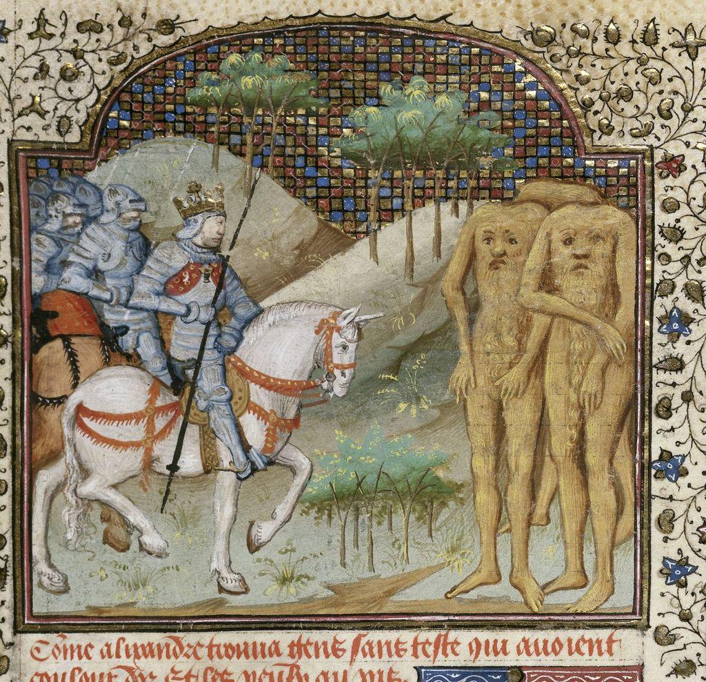 Blemmyae from BL Royal 15 E VI, f. 21v