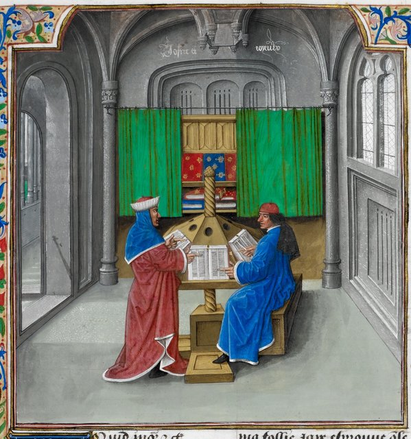 Boccaccio and Petrarch from BL Royal 14 E V, f. 391