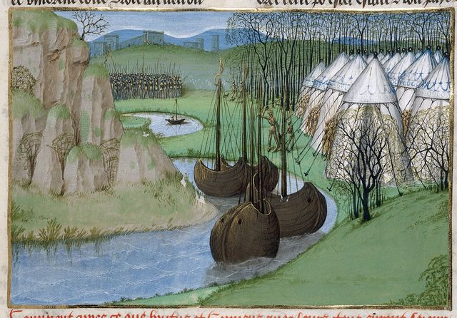 Brutus' camp from BL Royal 15 E IV, f. 36