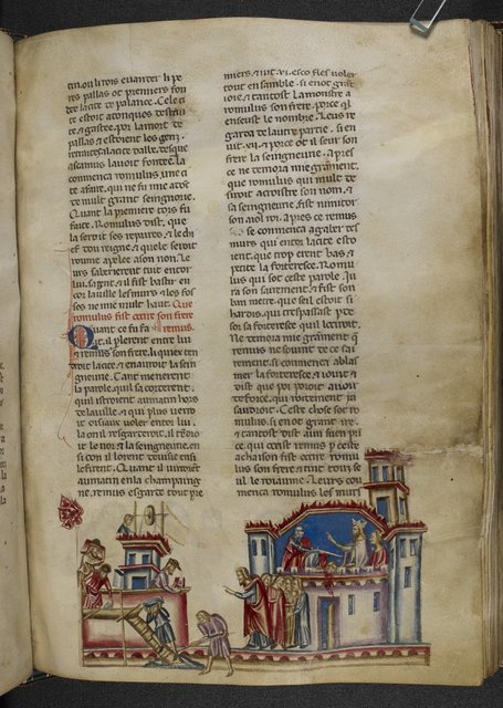 Building of Rome from BL Royal 20 D I, f. 225