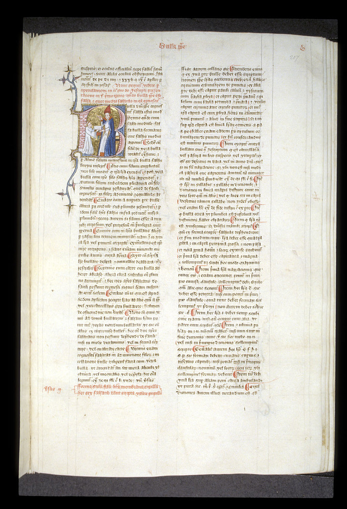 Bulla (Papal bull) from BL Royal 6 E VI, f. 207