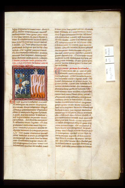 Burning of a city from BL Royal 19 D I, f. 45
