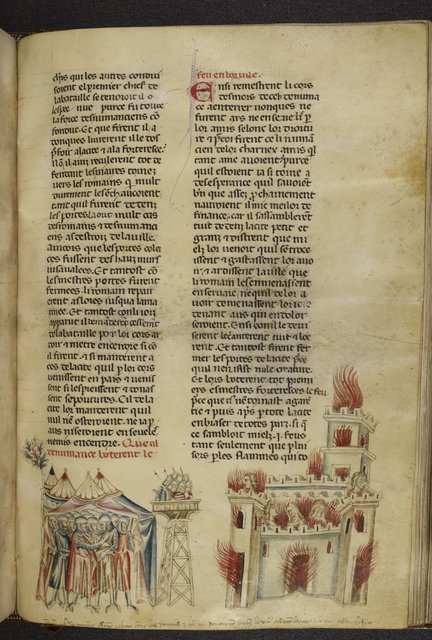 Burning of Numantia from BL Royal 20 D I, f. 317