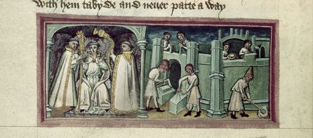 Bury St. Edmond's from BL Harley 2278, f. 115v