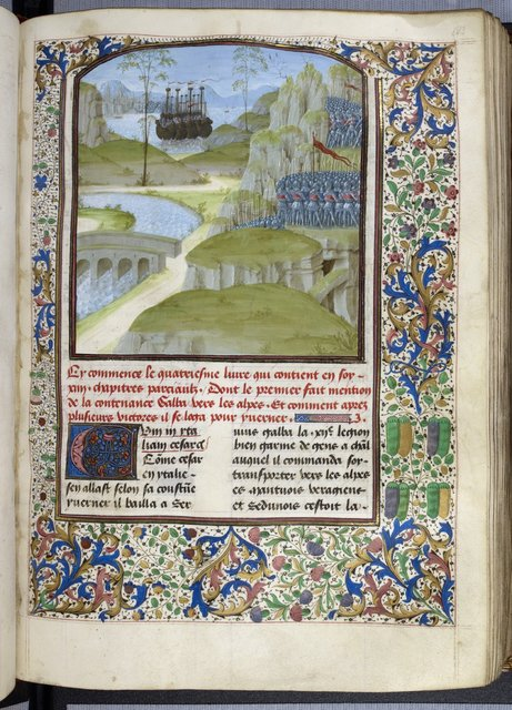 Caesar's army from BL Royal 16 G VIII, f. 133