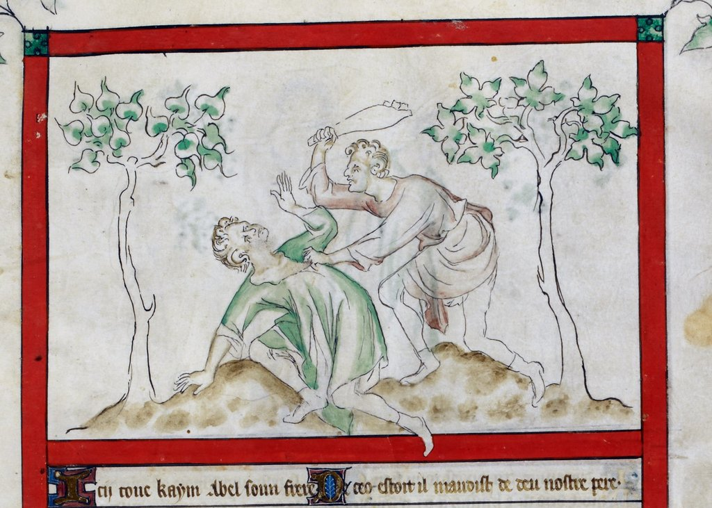Cain and Abel from BL Royal 2 B VII, f. 5
