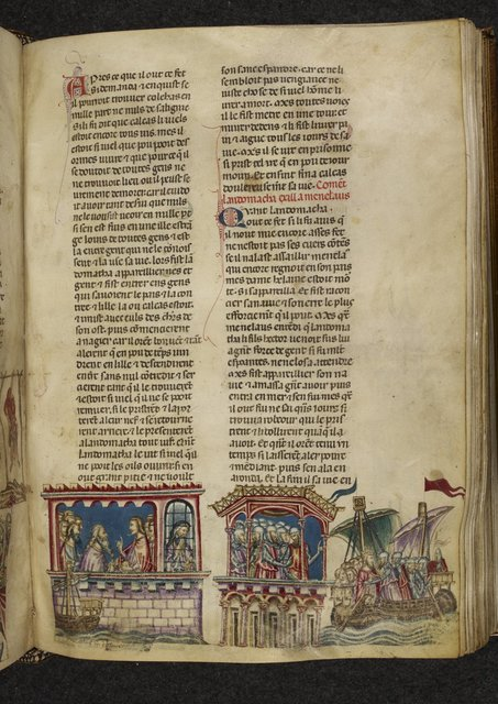 Calchas and Menelaus from BL Royal 20 D I, f. 192