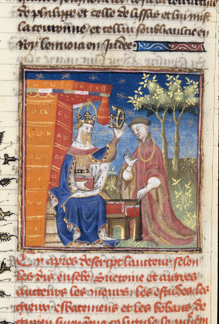 Caligula crowning Herod Agrippa from BL Royal 20 C I, f. 271v